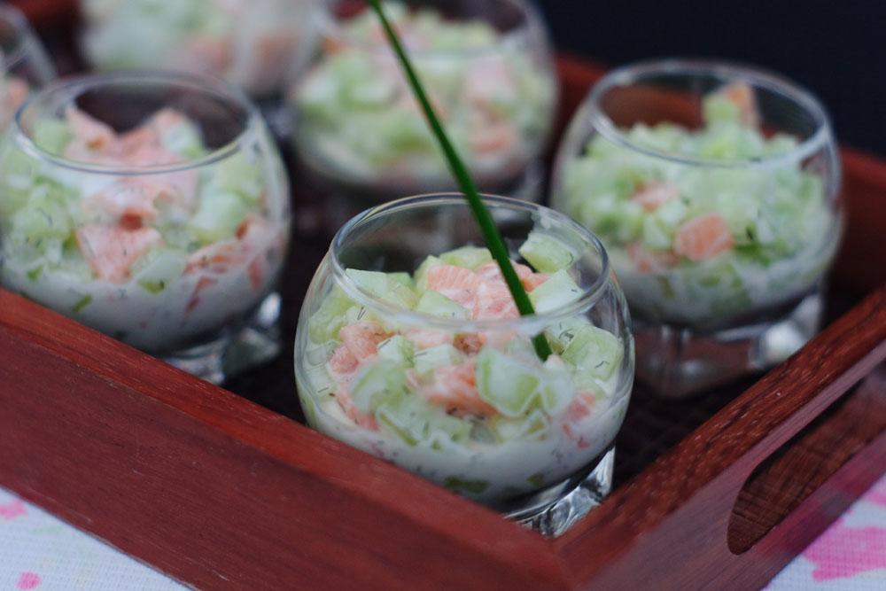 Verrine de saumon fum et concombre les recettes de for Entree fraicheur rapide